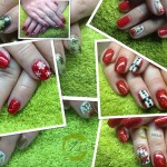 Christmas Shellac nails in St Helens